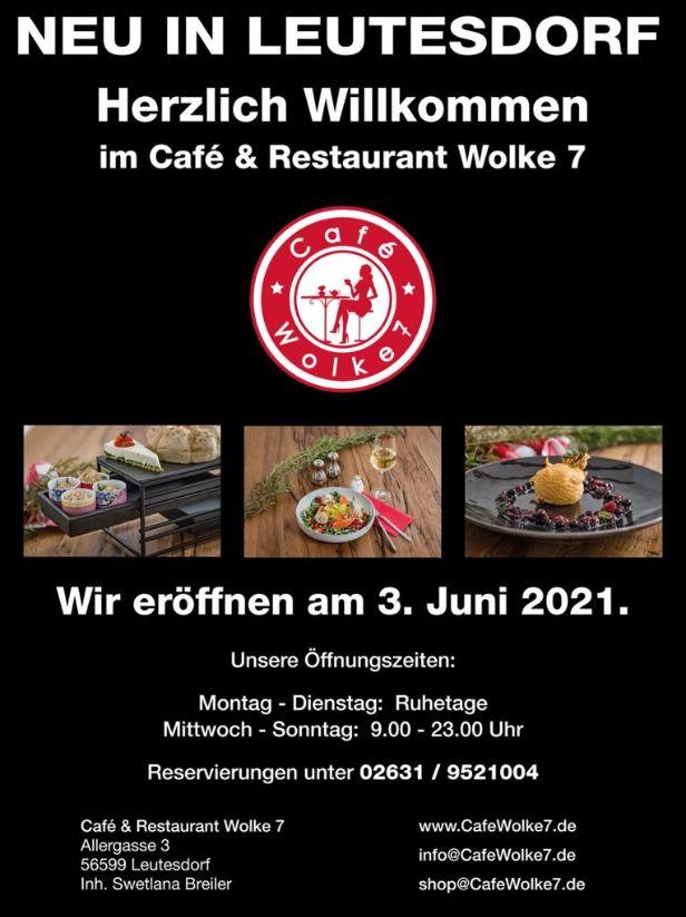 Neu ab Juni: Café und Restaurant in Leutesdorf